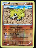 Carte Pokemon SABELETTE 75/162 Reverse XY8 Impulsion TURBO FR NEUF
