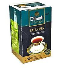 Dilmah Pure Ceylon Tea, Earl Greay Grey Tea, Foil Wrapped 4 box X 50 Tea Bags