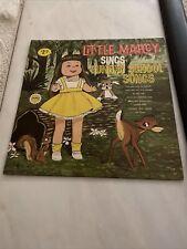 VTG VINYL LP RECORD LITTLE MARCY SINGS SUNDAY SCHOOL SONGS CHILDREN WORD K-701