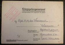 1944 Germany Stalag 12D POW Prisoner of War letter Cover to Groningen Holland