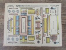 ANCIENNE IMAGERIE EPINAL PELLERIN CONSTRUCTION AUTOBUS  TROLLEYBUS TROCADERO