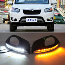 LED Daytime Running Light For Hyundai Santa Fe 2010-12 Yellow Turn Signals Light