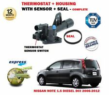 FOR NISSAN NOTE 1.5 DCI 2006-2012 NEW THERMOSTAT + HOUSING + SENSOR KIT COMPLETE