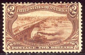 U.S. #293 Mint - 1898 $2.00 Trans-Mississippi ($1,900)