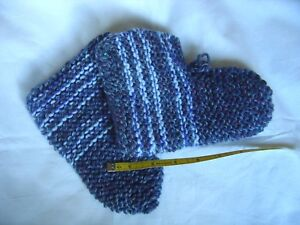 Unique Slipper Socks Bootees Grey Size 5 Shoe Hand Knitted in Cheshire