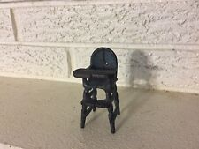 Antique Vintage Doll House Miniature Cast Iron Kilgore Childs High chair