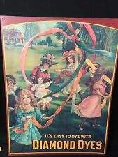 OLDER REPRODUCTION OF 1910-1915 DIAMOND DYES TIN ADVERTISEMENT