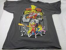 Vintage Mad Engine Mighty Morphin Power Rangers Dark Grey T-Shirt Size Medium