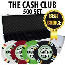 Cash Club 500 Casino Poker Chip Set with Aluminum case