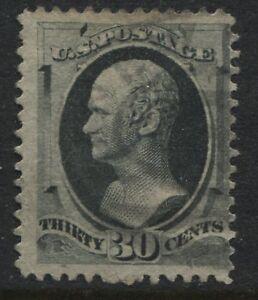 USA 1873 30 cent Alexander Hamilton grey black used (JD)