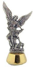 Patron Archangel Saint St Michael Adhesive Car Auto Statue Figure, 3 Inch