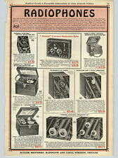 1923 PAPER AD 4 PG RCA GE Aerex Crystal Detector Sets Radio Reciving Sets Parts