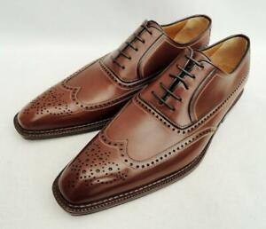 a.testoni Brown Leather Brogues Shoes UK10 EU44 US11 New Auth