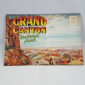 Grand Canyon National Park Fold-Out Vintage Postcard