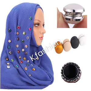 New Strong Magnetic Pin Brooch For Hijab Scarf Headscarf Shawl Round Multi Use