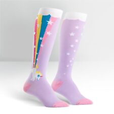Unicorn pooping a Rainbow...on Women's Knee High Socks by Sock It To Me