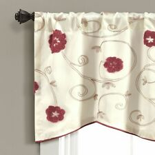 Lush Decor Royal Embrace Red Valance Single 18x42 new