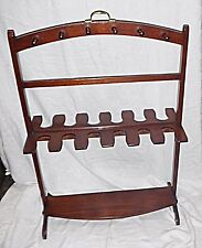 QUALITY VICTORIAN HUNTING BOOT & RISING WHIP STAND DOUBLE SIDED BRASS HANDLE