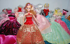 12p Clothes Lot Party Fashion Evening Dresses Sparkly + Shoes  for Barbie Doll