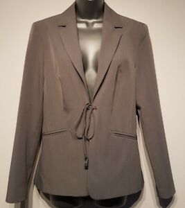 Size 12 Jacket LAKELAND Grey Tailored Excellent Condition Women's Tie Front