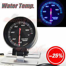 "STEPPER MOTOR AUTO Gauge Slim Meter 60mm/2.4"" BLUE Light RED Needle WATER TEMP."