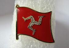 Isle of Man (Triskelion)  - Flag Pin Badge  High Quality Gloss Enamel