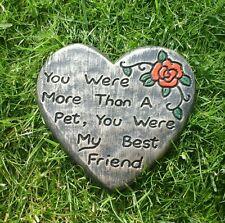Large Pet Memorial best friend . memorial  stone.grave marker