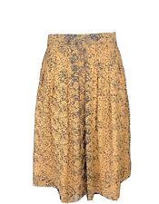 GREAT PLAINS Tan Snake Python Print Midi Skirt Blogger Trend Size 12 (E1)
