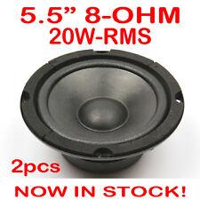 "2x 5.5"" 20WRMS PA DJ Speaker Mid Range Woofer Sub Driver 5.5 Inch 8 Ohms Quality"