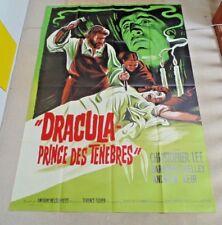 DRACULA PRINCE OF DARKNESS ORIGINAL 1966 HAMMER CINEMA POSTER LITHO ARTWORK RARE