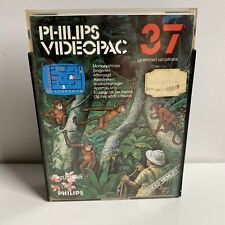 PHILIPS VIDEOPAC 37 •MONKEYSHINES•VINTAGE GAME 100% COMPLETE IN BOX WITH MANUAL