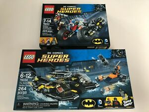 RETIRED Lego DC Comics Batman Super Heroes 2 Set Lot 76034 76053! New & Sealed!