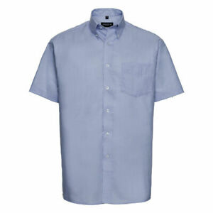 Russell Collection Men's Short Sleeve Oxford Shirt R-933M-0 - Office Work Wear