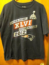 NFL Team Apparel Super Bowl XLVI 2012 Colts Patriots T Shirt XL Blue