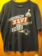NFL Team Apparel ~ Men's XL ~ Super Bowl XLVI 2012 Giants Patriots T Shirt