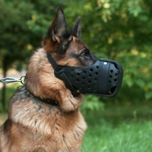 Leather Dog Muzzle for German Shepherd | K9 Dog Training Muzzle for GSD
