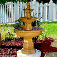 Water Fountain - Tropical 3-Tier Outdoor Electric Garden Fountain