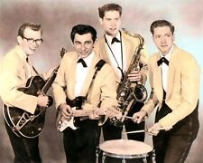 """THE TEEN TONES aka THE MELOAIRES 1958 ROCK & ROLL 8x10"""" HAND COLOR TINTED PHOTO"""
