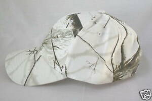 Realtree White Camo Hat, Snow Camouflage Cap 6-Panel