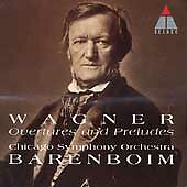 New Richard Wagner Barenboim: Overtures and Preludes (CD, Jan-1996, Teldec (USA)