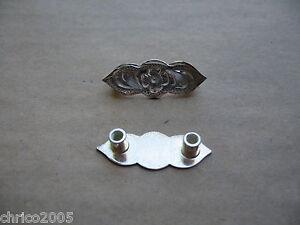 Silberbeschläge für Lederwaren *neu* Stirnbandbeschläge oval 2 Stück No. 215-1