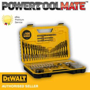 DEWALT DT71563 Drill Bit Set 100 Piece Combination Screwdriver Bits Masonry Wood
