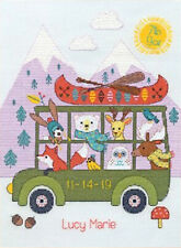 Counted Cross Stitch Kit ~ Dimensions Little Adventurer Birth Record #70-75970