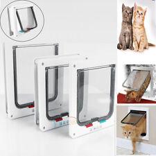 4 Wege Katzentür Katzenklappe Haustierklappe S/M/L Eingangskontrolle System SH02