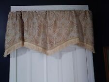 Allen Roth Formal Valance Scalloped w/Gold Fringe Paisley 18.5x54 2 Available