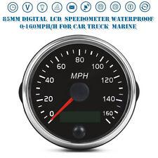 85mm LCD Digital Speedometer Waterproof 0-160MPH for Car Truck Marine Universal