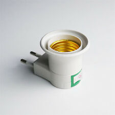 EU Plug E27 LED Light Lamp Bulb Socket Adapter Converter Screw Mouth CN