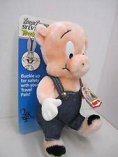 "24K PORKY PIG Plush 10"" Travel Pals 1993 - Warner Bros. Looney Tunes - New"