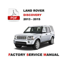 2013 - 2015 LAND ROVER DISCOVERY 4 LR4 L319 REPAIR WORKSHOP SERVICE MANUAL