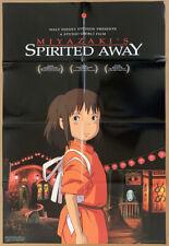 Spirited Away Movie Poster 2 Sided Original Folded 27x40 Hayao Miyazaki